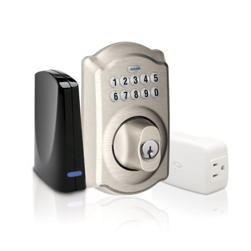 Schlage Be369grnx Cam 619 Keypad Deadbolt Home Security