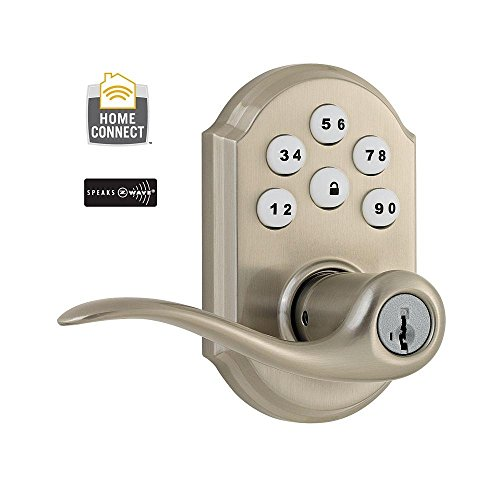 Kwikset 912 Z Wave Single Cylinder Satin Nickel