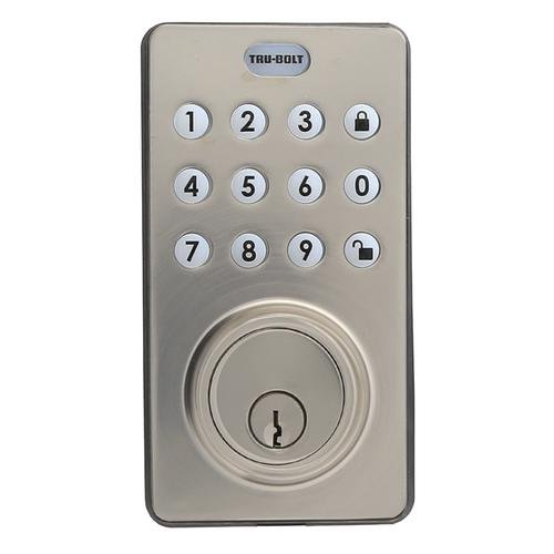 Tru Bolt Electronic Deadbolt With Push Button Keypad And